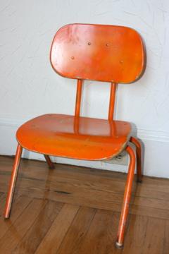 Casapinka Vintage Orange School Chair