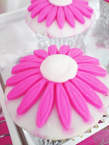 Pinkflowercupcake