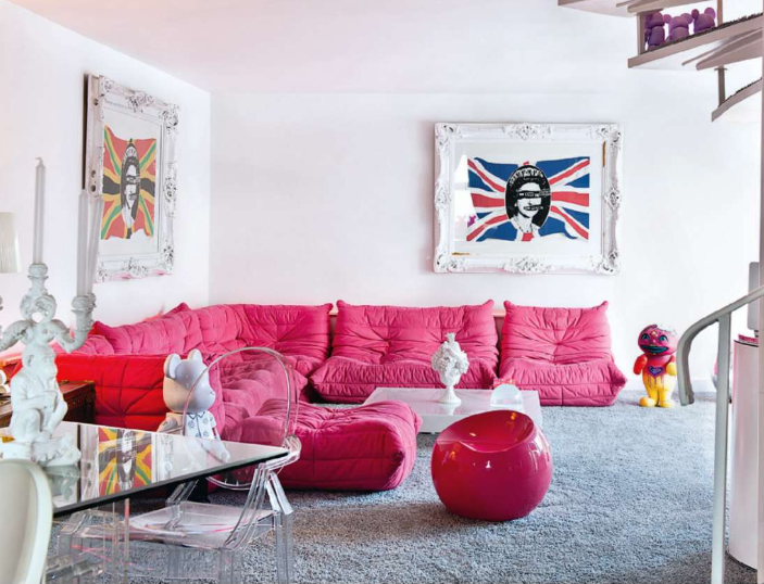 I Was Absolutely Smitten Today When I Picked Up The Latest Copy Of  Livingetc. Pink Ligne Roset Togo Sofas?!?! I Could Barely Tear My Eyes Away.