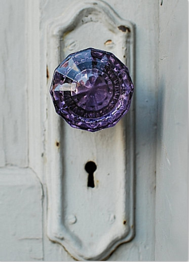 Purple doorknob