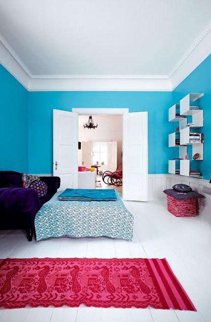 Turquoisefuchsiabedroom